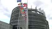 política : STRASBOURG, CIRCA AUGUST 2014: View building of European Parliament, its  together with the Council of the European Union, is one of the main institutions of the EU legislative august 2014 in Strasbourg
