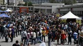 peruca : NAPLES ITALY MAY 2: visitors at 17th edition of the International Cartoon Comicon on may 2 2015 in Naples