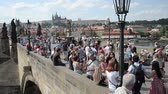 celta : PRAGUE - AUGUST 6: People walking on the famous Charles Bridge, completed in 1400 and is 515 meters long  on august 6,2015 in Prague - Czech
