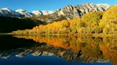 yansıma : Beautiful Mountain Lake, Vibrant Fall Colors