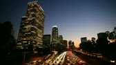 traffico : Los Angeles Downtown Traffic at Sunset