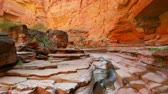 river : Stream Flowing in Beautiful Canyon in the Grand Canyon National Park Stock Footage