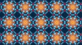 猫 : poly art kaleidoscope yellow blue black for VJ Fractal Background 動画素材