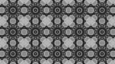 caleidoscoop : poly art kaleidoscope yellow black grey flower for VJ Fractal Background Stockvideo
