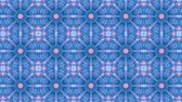 抽象的な : poly art kaleidoscope  blue black star for VJ Fractal Background