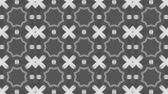 видео : poly art kaleidoscope  grey black dot flower for VJ Fractal Background