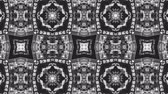 кошка : Poly Art Kaleidoscope seamless smooth bnw neon chinese style pattern 4k Стоковые видеозаписи
