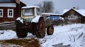 farmhouse : Tractor in a village