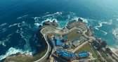 Drone Aerial Image. Valparaiso, Chile. Coast of Valparaiso in the Playa Ancha industry