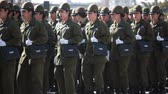 кошелек : Santiago, Chile - September 15, 2011: Women Police Cadets marching in a rehearsal of the Great Military Parade