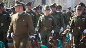 zęby : Santiago, Chile - September 15, 2011: Chilean Police with Dogs marching in a rehearsal of the Great Military Parade