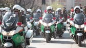 mais : Santiago, Chile - September 15, 2011: Motorized Police in a rehearsal of the Great Military Parade