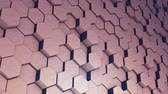 Abstract Hexagon Geometry Background, Hexagonal Pattern Randomly Waving