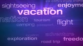 Travel and Vacation Words Loop - Seamless animation loop of various buzzwords pertaining to travel and vacation. Vídeos