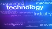 Technology and Innovation Words Loop - Seamless animation loop of various buzzwords pertaining to technology and innovation. Vídeos