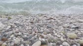 sea waves on shore of the Adriatic Sea Stock Footage