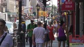yeni : Busy Street in Cobble Hill, Brooklyn Stok Video