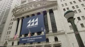 street wall : Die New York Stock Exchange Gebäude an der Wall Street Stock Footage