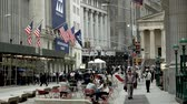 finanças : Wide Shot of Wall Street and the New York Stock Exchange