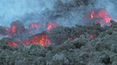 ash : clos up lava flow