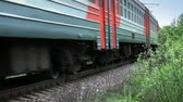 Fast passenger train rides through the Russian countryside Stock mozgókép