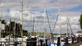 Yachts in the port Veere (Zeeland, Netherlands).