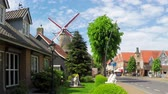 Old windmill in small Dutch town Sluis.