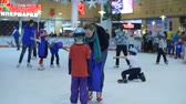 Children and adults alike at the rink, St. Petersburg, Russia