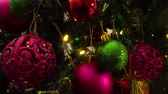 textura : Greeting Season concept.Dolly of ornaments on a Christmas tree with decorative