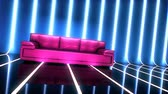 Club glamour interior with sofa