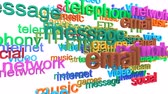sosyal : Internet services word cloud