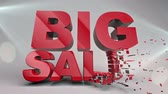 Sale word concept, for shopping, sales, advertising, discounts and promotion Stok Video