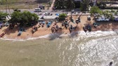 krystaly : Pattaya, Thailand - April 18, 2019: Beach and sea in Pattaya Chonburi, Thailand, top view. Beautiful scenery of Pattaya Chonburi Beach, Thailand