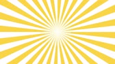 muster retro : Yellow and white sunburst circle and background pattern animation. Back Pop Art Style yellow background motion video 4K Videos
