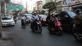 SAIGON - JULY 25: Road Traffic on July 25, 2018 in Saigon (Ho Chi Minh City), Vietnam 動画素材