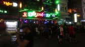 Night view of the Bui Vien street famous backpackers area in District 1