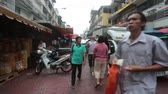 BANGKOK, THAILAND - MARCH , 2018: Yaowarat Road in Chinatown, Bangkok, Thailand. 動画素材