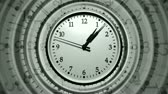 бить : Super sharp 3D render of a wall clocks spinning fast. HD 1080 Seamless Loop.-
