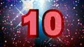 confete : Motion graphics animation countdown from 10... Party time!-