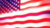 единение : Glowing, shining and waving USA flag. This animation is pinned on the left, gives the movement a true flag on pole feel. Seamless HD 1080 loop.