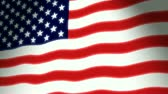 единение : Glowing and waving USA flag. This animation is pinned on the left, gives the movement a true flag on pole feel. Seamless loop, make it as long as you need it.-