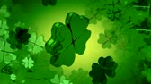 digitalmente : Celebrate St. Patricks Day with these awesome 4 leaf clovers! Seamless HD 1080 loop.- Stock Footage