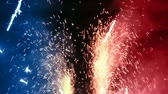 celebration : Random fireworks, sparks and explosions with lots of intense energy.-