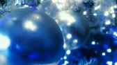 dekor : Sparkling Red ornaments on Christmas tree. HD 1080  Seamless Loop.-