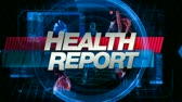 healthcare : Health Report graphic main title, videos and images in the background. Seamless looping video. More in this series in my portfolio.- Stock Footage