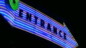 vibrante : HD shot of abstract neon sign with lights and color. Stock Footage