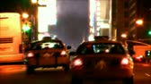 time : Traffic going by on busy New York City street. Contains no logos or trademarks. Shot on HD 1080p. 30FPS.-