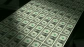 бумага : Animation of real one dollar bills coming off the printing press. Seamless HD 1080 Loop.- Стоковые видеозаписи