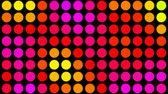 psychedelic pattern : Psychedelic colored dots on black background fast cycling color changes.- Stock Footage