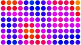 yuvarlak : Psychedelic colored dots on black background fast cycling color changes.- Stok Video